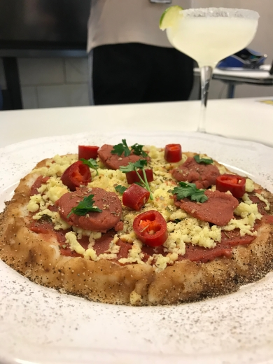 Variety topping pizza