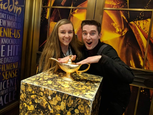 Sam and Laura at Aladdin