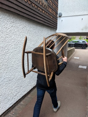 Tom with chair